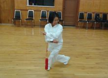 Tai Chi Sword student - Sherry Liu demo