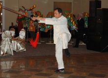 Master Leung demo Yang Tai Chi sword at HRCCA CNY Gala Night