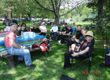 LEUNG's Yang Tai Chi members at 2014 HRCCA Summmer Picnic
