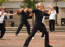 LEUNG's Yang Tai Chi members demo at Fit-in-the-CORE